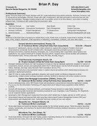 Technical Writer Resume Samples Free Download Fair Examples