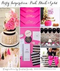 Gorgeous Party Inspiration Pink Black And Gold Ideas Kate Spade Theme