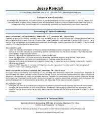Sample Controller Resume Template For Examples Rh Gameis Us Best Resumes