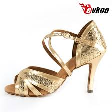Evkoodance Most fortable Gold New Style Salsa Ballroom Dance