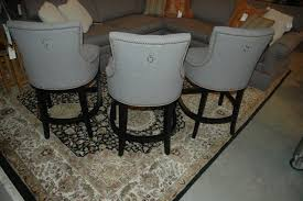 Grey Upholstered Dining Chairs With Nailheads by Bar Stools Nailhead Counter Stool Leather Bar Stools Walmart Bar