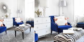wohnoase in kräftigem blau weiß instashop
