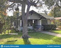 100 Bungalow Architecture Small Craftsman Home In Pasadena Stock Image