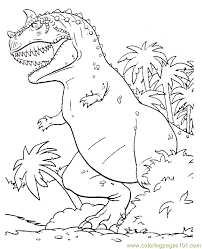 Printable Coloring Page Dinosaur Animals Gt