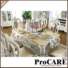 Dining Table Set Sale French Royal Style Wood Furniture Marble For