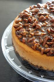 Pumpkin Cheesecake Gingersnap Crust Bon Appetit by Praline Pumpkin Cheesecake With Pecan Praline Topping