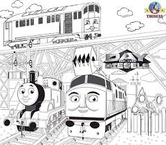 Worksheets Free Printable Activities Kids Coloring Pages Thomas The Train Diesel 10 Engine And BoCo