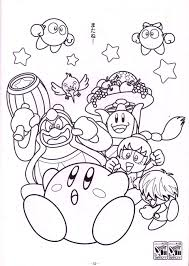 Kirby Coloring Page With Pages