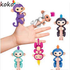 Fingerlings Interactive Baby Monkeys 6 Color Smart Colorful Fingers Llings Induction Best Gifts For Kids