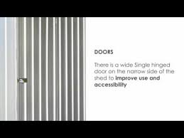 Absco Sheds Mitre 10 by Absco Economy Garden Shed Youtube