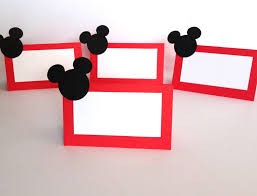 10 mickey mouse party place cards food labels mickey mouse party