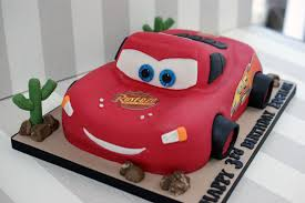 Mcqueen cars birthday cake