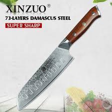 couteau de cuisine professionnel japonais xinzuo 7 pouce couteau de chef japonais vg10 damas cuisine en acier