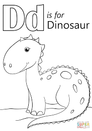 Click The Letter D Is For Dinosaur Coloring Pages