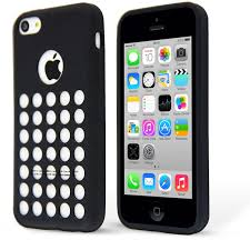 Retro Dot Hole Soft Silicone Case Cover For Apple IPhone 5C RETRO