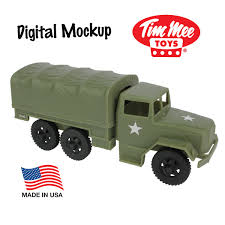100 Deuce And A Half Truck TimMee Plastic Rmy Men CRGO TRUCK Olive Green M35 Anda