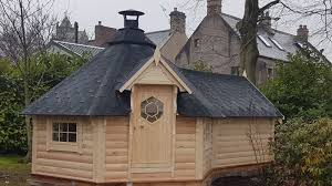 100 Log Cabin Extensions 92m2 Grill Cabin With 45m2 Sauna Extension ECOTIMBER