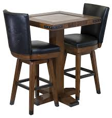 H-D™ B&S Square Pub Table & Stool Set - Rawhide Brown