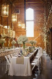 Winter Wedding Branches With Xmas Lights Cheap Decor Barn