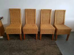 4 stühle aus rattan rattanstühle esszimmer