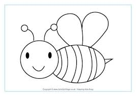 Homely Idea Bee Coloring Page Colouring Pages
