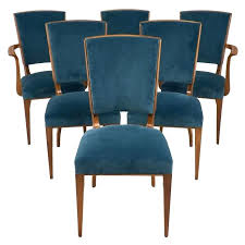 French Art Set Of Dining Room Chairs At For Incredible Household Cherry Wood Plan Deco Style