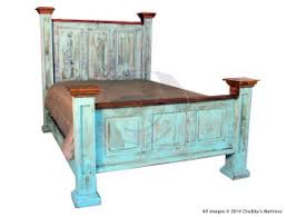 Rustic Turqoise Oasis Bed