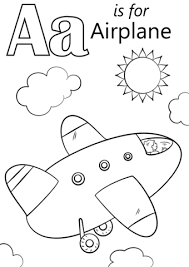 Click To See Printable Version Of Letter A Is For Airplane Coloring Page