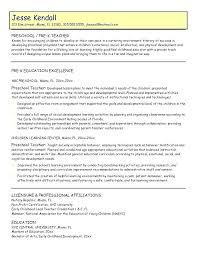 Paraprofessional Resume Sample Preschool Teacher Principal Middle School Teaching