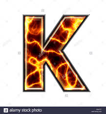 3d Electric Letter K Stock Photo 74362295 Alamy
