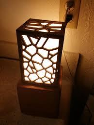 Laser Cut Lamp Shade by Voronoi Wood Lamp Album On Imgur