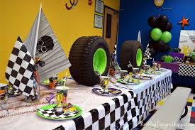 100 Monster Truck Decorations Nestling Party Reveal Truck