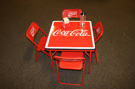 Coca-Cola Table And Chairs Lot | GAA Classic Cars Very First Coke Was Bordeaux Mixed With Cocaine Daily Mail Cool Retro Dinettes 1950s Style Cadian Made Chrome Sets How To Remove Soft Drink Stains From Fabric Pizza Saver Wikipedia Pin On My Art Projects 111 Navy Chair Cacola American Fif Tea Z Restaurantcacola Coca Cola Brand Low Undermines Plastic Recycling Efforts Pnic Time 811009160 Bottle Table Set Barber And Osgerbys On Chair For Emeco Can Be Recycled