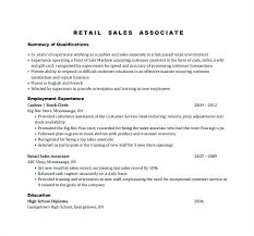 Resumes For Sales Associate Retail Resume Stock Examples Of Unforgettable And Sample Walmart Job Description