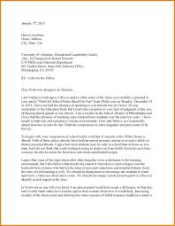 Format A Formal Letter To The Editor Gallery Letter Format