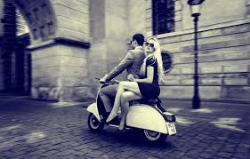 Photo Wallpaper Vintage Vespa Girl Scooter Guy Retro The City