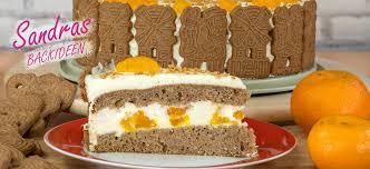 spekulatius mandarinen torte sandras backideen