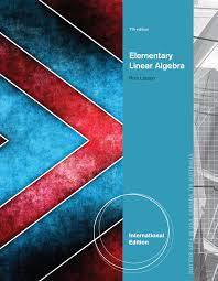 EBook Elementary Linear Algebra International Edition