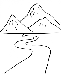 Coloring Page Mountain Nature 13