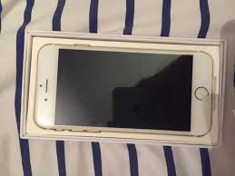 New insurance replacement 64gb iPhone 6 in gold