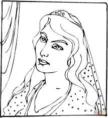Queen Esther Coloring Page Free Printable Pages Best Of