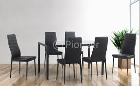 Dining Table With 4 Or 6 Chairs Black For Clearance Prices Alexia 5 Pcs Contemporary Set 4 Black Chairs And White Modern Table Inspire 5piece Greywhite Kids Table And Chair Set Garden Trading Rive Droite Bistro Chairs Shutter Blue Costway Piece Ding Wood Metal Kitchen Breakfast Fniture Black Rakutencom Black Table Chairs Dorel Living Devyn 3piece Faux Marble Pub Ikea In Camberwell Ldon Gumtree Brooklyn Oak Leather Bro103 Warmiehomy Glass 6 With 2375 Square Inoutdoor 2 Meco Sudden Comfort Deluxe Double Padded Back Card Courtyard Cosco Foldinhalf Folding