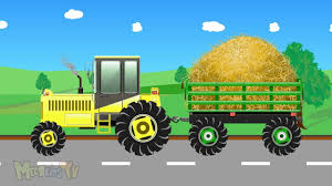 Kids Tractor - Cartoon Video For Children - Tractors For Kids - YouTube