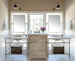 Shabby Chic Bathroom Vanity Unit by Charleston Bathroom Vanity Mirrors Traditional With His And Hers