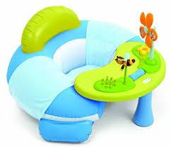 table activité bébé avec siege smoby cotoons siège gonflable bleu amazon fr jeux et jouets