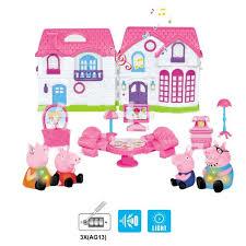 pig jouets en pvc de maison villa juguetes et lumière jouet de