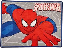 Amazon Marvel Ultimate Spiderman Rug Web Slinger Printed Kids