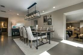 Modern Farmhouse Dining Room With Sherwin Williams Gray SW 7632 Wall Paint Color