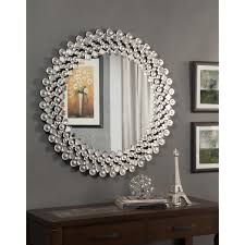 Wayfair Dresser With Mirror by You U0027ll Love The Round Crystal Wall Mirror At Wayfair Great Deals