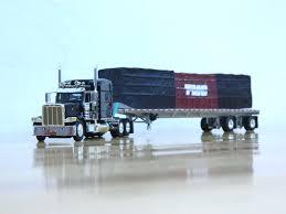 100 Tmc Used Trucks DCP 33960 TMC Peterbilt 389 MIDROOF Flatbed Trailer W Load 1 64